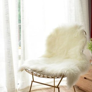 Carvapet Luxury Soft Faux Sheepskin Chair For Bedroom Super Comfy And Great Reading