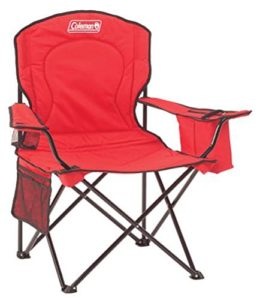 coleman-chair-built-in-cooler-red
