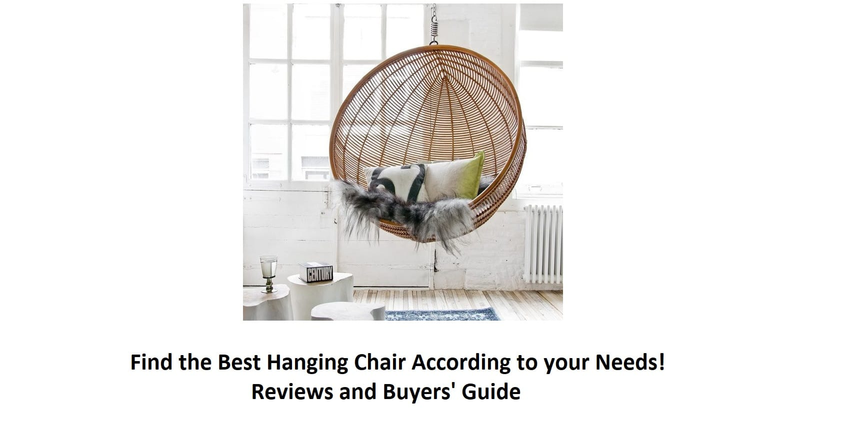 27c5d3318a0 ▷ Find the Best Hanging Chair According to your Needs - Guide  2019